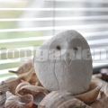 Bagoly szobor fehér 8 cm