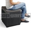 Taburetka Cube + poduška AG 213785
