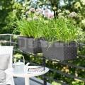 Virágláda 75cm antracit Casa Mesh Emsa 515025