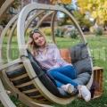 Kerti függő fotel Kacper szürke színű