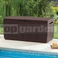 Záhradný úložný box Capri 305L hnedý
