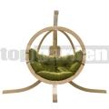 Zosia függő fotel állvánnyal oliva