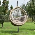 Függő rattan fotel Veget Natur állvánnyal