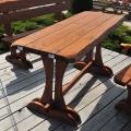 Drevené záhradné stoly