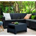 Rohový záhradný nábytok