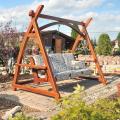 Záhradné hojdačky drevené