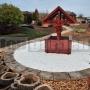 Okraj bazéna oblúkový - imitácia dreva
