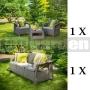Záhradný nábytok Corfu Triple set CS