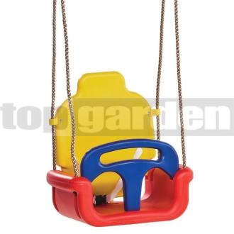 fe28cf387ca4 Detská hojdačka Klasik červeno-žlto-modrá