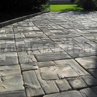 Forma na beton imitace dřeva