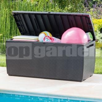 515cb8b573ee4 Capri 305L antracit - záhradný úložný box - topgarden.sk - úložné boxy