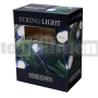 400 LED Solárna reťaz biela SLSL6