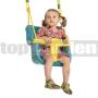 Detská hojdačka Luxe tyrkysovo-žltá