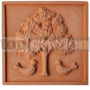 Keramický reliéf 12 Strom