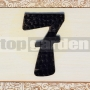 Kovové domové číslo 7