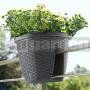 Kvetináč na zábradlie Casa Mesh antracit 515013