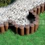 Okraj trávnika plastový - palisády cellfast 5 standard hnedá