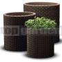 Ratanový kvetináč Cylinder - M brown