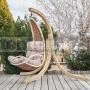 Závesné kreslo Luxury s dreveným stojanom
