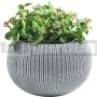Závesný kvetináč Cozies M sivý