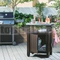 BBQ Záhradný úložný stolík 93L hnedý