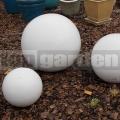 Dekoračná guľa biela