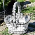 Dekoračný košík z betónu gb