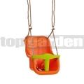Detská hojdačka Luxe oranžovo-zelená