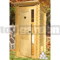 Drevené záhradné WC Srdiečko