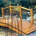 Drevený mostík model 1
