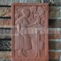Keramický reliéf 2 - Vinárka