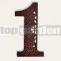 Kovové domové číslo s dekorom 1