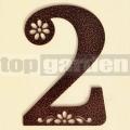 Kovové domové číslo s dekorom 2
