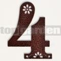 Kovové domové číslo s dekorom 4