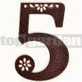 Kovové domové číslo s dekorom 5