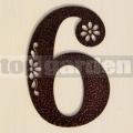 Kovové domové číslo s dekorom 6, 9