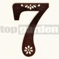 Kovové domové číslo s dekorom 7