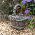 Kvetináč košík L s mašľou 6190