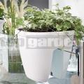 Kvetináč na zábradlie My City Garden White 515015