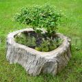 Kvetináč stredný - imitácia dreva