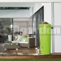 Moderná dvojfunkčná nádrž zelená