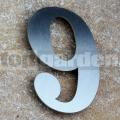 Nerezové popisné číslo 9
