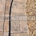 Okraj bazéna rovný - imitácia dreva