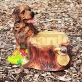 Pes s kvetináčom A1278a