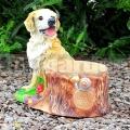 Pes s kvetináčom A1278c