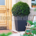 Ratanový kvetináč - L antracit 228926