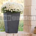 Ratanový kvetináč - M antracit 228974