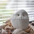 Sova z kameňa biela 8 cm