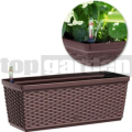 Truhlík 50 cm hnedý Casa Mesh Emsa 515023