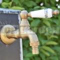 Mosadzná záhradná vodovodná batéria Ľalia XL